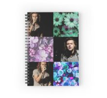 Harry Styles and Flowers Spiral Notebook