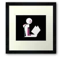 Spider Lady Reads Framed Print