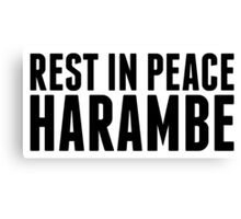 Rest in Peace, Harambe Canvas Print