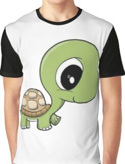 Cute Turtle Graphic T-Shirt