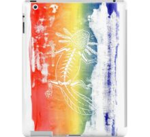 Rainbow Axolotl Monoprint iPad Case/Skin