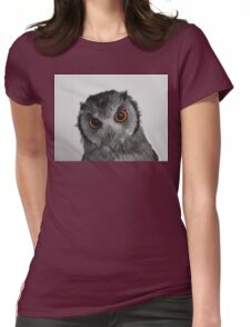 Curious little owl Womens Fitted T-Shirt