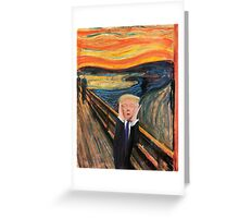 Screaming Donald Greeting Card