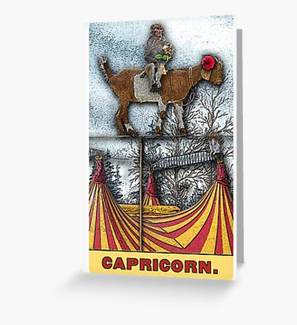Capricorn - from The Midway Arcana Greeting Card