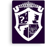 Baker Street White Canvas Print