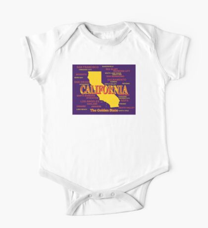 California State Pride Map Silhouette  One Piece - Short Sleeve