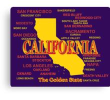 California State Pride Map Silhouette  Canvas Print