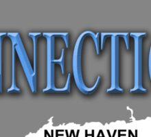 Connecticut State Pride Map Silhouette  Sticker