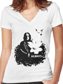 snape - always Women's Fitted V-Neck T-Shirt