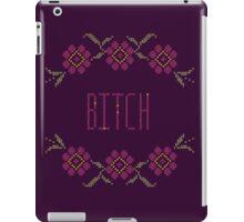 Bitch Cross Stitch iPad Case/Skin