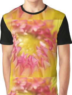 Pink and Yellow Dahlia, As Is Graphic T-Shirt