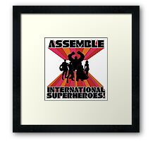 International Superheroes Framed Print