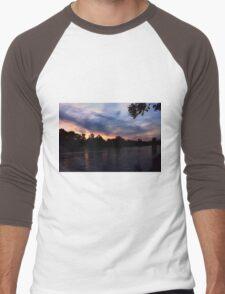 sunset river  Men's Baseball ¾ T-Shirt