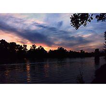 sunset river  Photographic Print