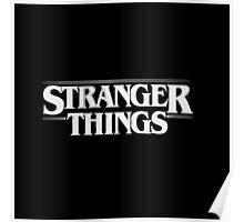 Stranger Things - White Poster