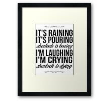 Sing-A-Long With Moriarty Framed Print