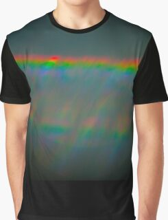 Abstract Refracted Rainbow Graphic T-Shirt
