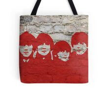 The Beatles Graffiti on Brick Wall Tote Bag