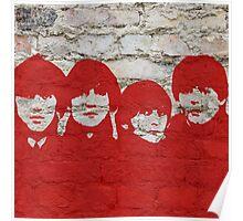 The Beatles Graffiti on Brick Wall Poster