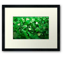 Green Lego Blocks Poster/Pillow/Stickers Framed Print