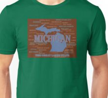 Michigan State Pride Map Silhouette  Unisex T-Shirt
