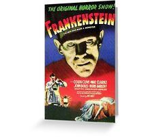 Frankenstein movie poster Greeting Card