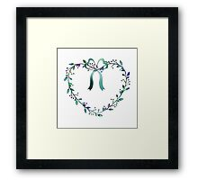 Romantic Heart of Leaves and Buds Framed Print
