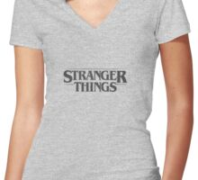 Stranger Things - Black Women's Fitted V-Neck T-Shirt