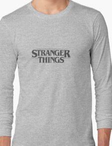 Stranger Things - Black Long Sleeve T-Shirt