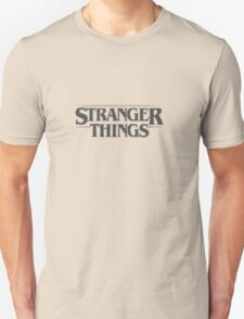Stranger Things - Black Unisex T-Shirt