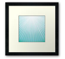green abstract wave background Framed Print
