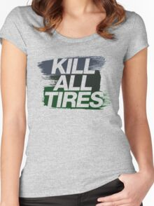 Kill All Tires (4) Women's Fitted Scoop T-Shirt