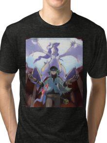 pokemon reshiram and n Tri-blend T-Shirt