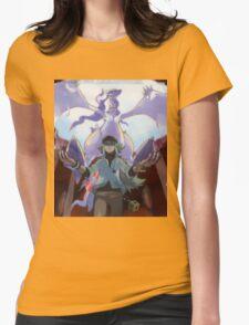 pokemon reshiram and n Womens Fitted T-Shirt
