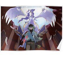 pokemon reshiram and n Poster