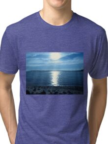 Reflections In  Blue...Between Yachats, And Newport, Oregon Tri-blend T-Shirt