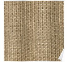 Natural Woven Beige Burlap Sack Cloth Poster
