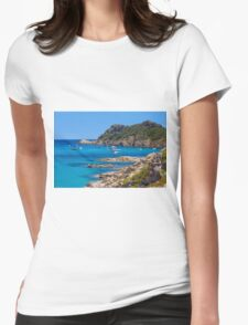 L´Escalet Beach, south of Saint Tropez, Southern France Womens Fitted T-Shirt