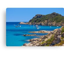 L´Escalet Beach, south of Saint Tropez, Southern France Canvas Print