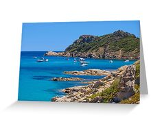 L´Escalet Beach, south of Saint Tropez, Southern France Greeting Card