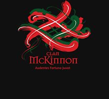 Clan McKinnon - Prefer your gift on Black/White, let us know at info@tangledtartan.com Unisex T-Shirt