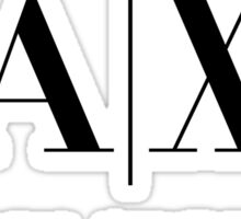 armani exchange- Black Sticker