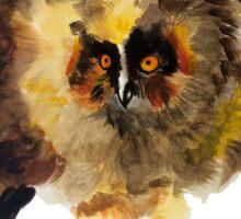 Baby watercolor frightening owl Sticker