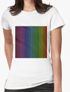 abstract colorful line background Womens Fitted T-Shirt