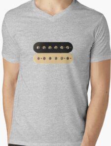 Zebra PAF Humbucker Pickup - Gibson Guitar Mens V-Neck T-Shirt
