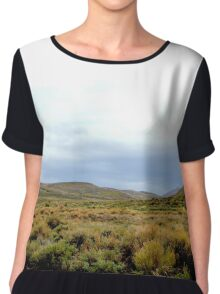 Desolate Field In Bodie Ghost Town Chiffon Top