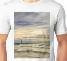 A stormy late afternoon Frankfort Harbor Michigan Unisex T-Shirt
