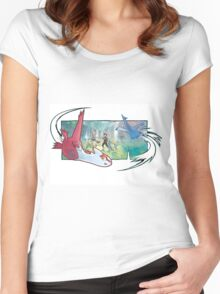 pokemon latios and latias Women's Fitted Scoop T-Shirt