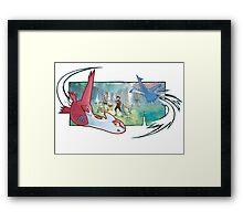 pokemon latios and latias Framed Print
