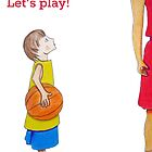 Let's play basketball! by JoAnnFineArt